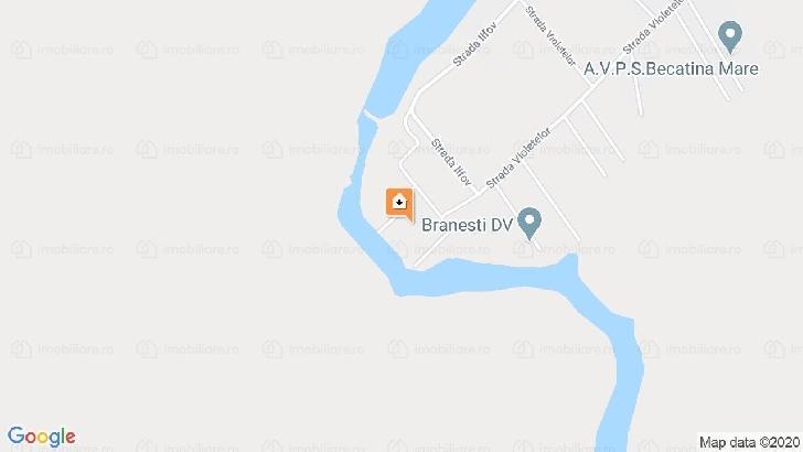 De vanzare teren intravilan in comuna  Branesti, 5000 mp ,cu deschidere directa la lacul Pasarea