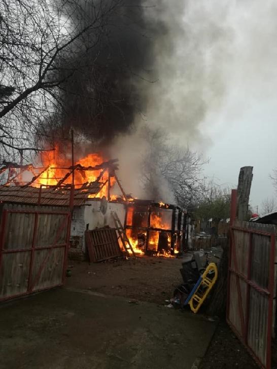 Incendiu la o casă particulară în comuna Râfov, sat Palanca