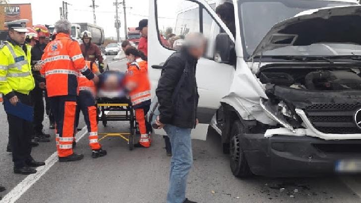Accident rutier în comuna Ariceştii Rahtivani, zona Bauelemente .3 autoturisme implicate