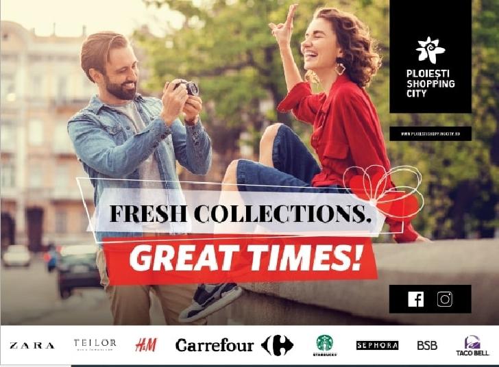 La Ploieşti Shopping City primăvara începe cu Fresh Collections şi GreatTimes