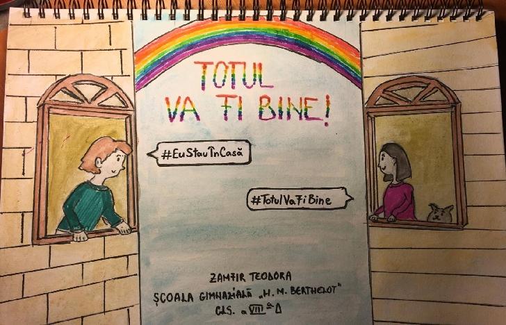 """Şcoala """"Henri Mathias Berthelot """" Ploiesti se alătură Campaniei internaţionale TOTUL VA FI BINE"""