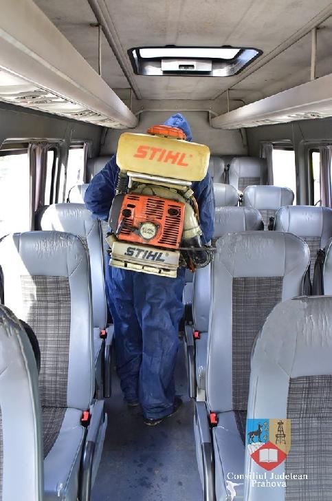 Măsuri de igienizare şi dezinfecţie a mijloacelor de transport intrajudeţean, luate de Consiliul Judeţean Prahova