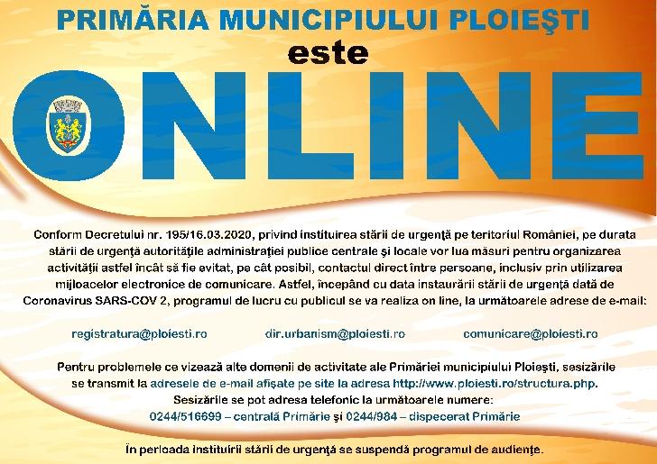 S-a schimbat programul cu publicul, la Registratura Primariei municipiului Ploieşti