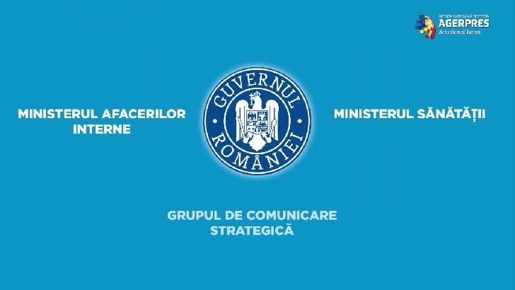 Comunicat de presa Grupul de Comunicare Strategică.20 martie 2020