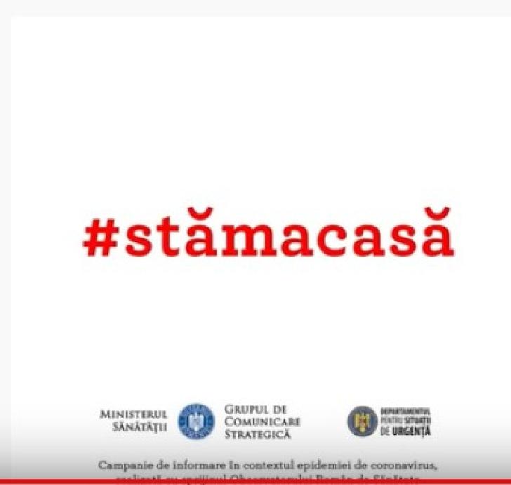 STAM ACASA.Campanie de informare si preventie Covid 19-Coronavirus (video )