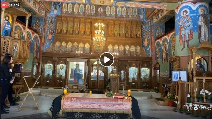 """Slujba Deniei  Prohodului din Vinerea Mare ,de la Biserica """"Inaltarea Domnului-Eroilor """" . (live  )"""