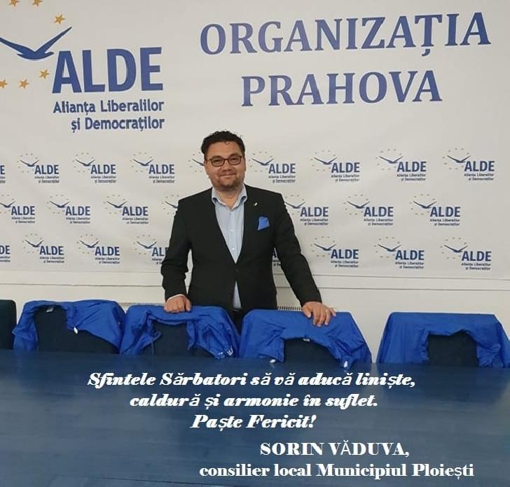Sorin Vaduva,consilier local al municipiului Ploiesti,mesaj de Paste