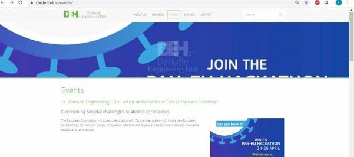 Danube Engineering Hub - ambasador activ la Pan-European Hackathon în scopul depăşirii provocărilor societale legate de coronavirus