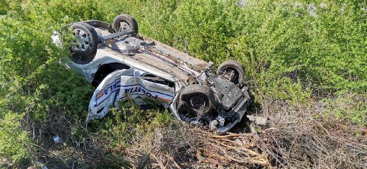 Accident grav  la Dumbrava. O autospecială a Politiei Locale a fost lovita de tren