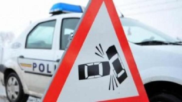 Accident rutier la Câmpina. O autocisternă a acroşat un autoturism