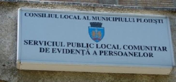 Serviciul Public Local Comunitar de Evidenţă a Persoanelor Ploieşti va avea program special în data de 1 iunie 2020