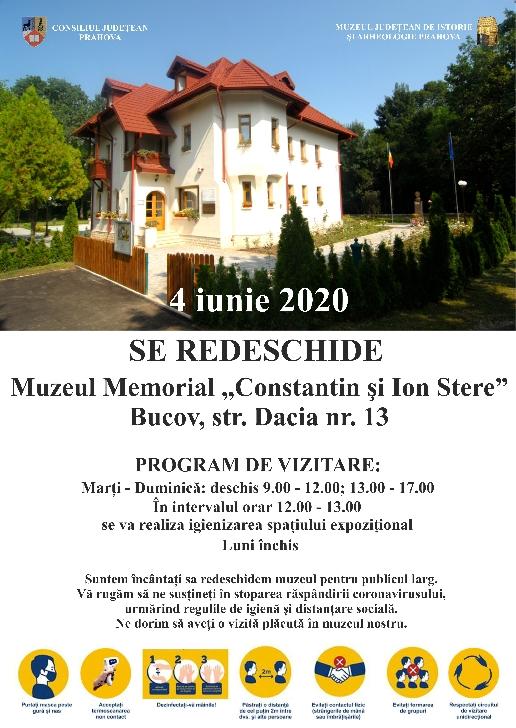 Alte doua muzee din Prahova se redeschid joi