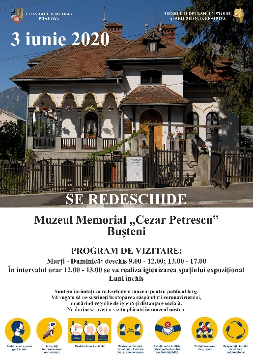 Miercuri,3 iunie se redeschid 2 muzee in judetul Prahova