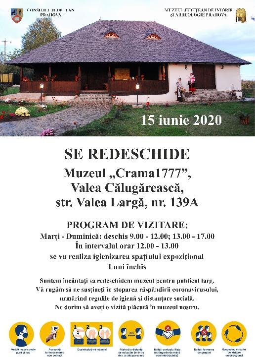 """Muzeul """"Crama 1777"""" din Valea Călugărească se va redeschide luni"""
