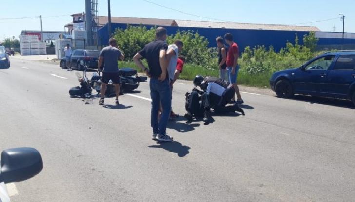 Accident rutier la Blejoi, între un autoturism şi un  motociclist