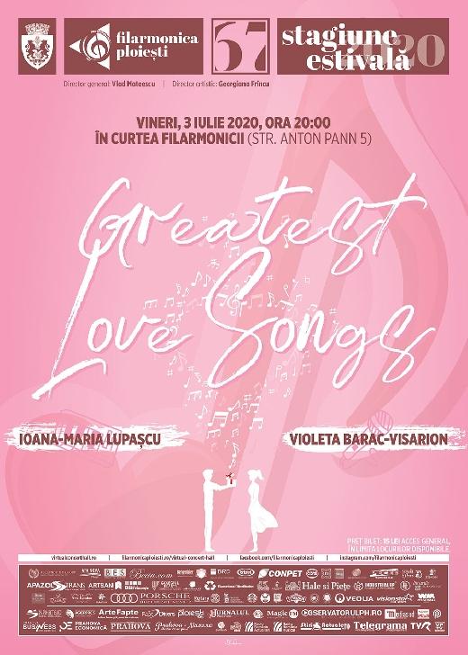 """Greatest Love Songs, recital în aer liber la Filarmonica """"Paul Constantinescu """" Ploiesti"""