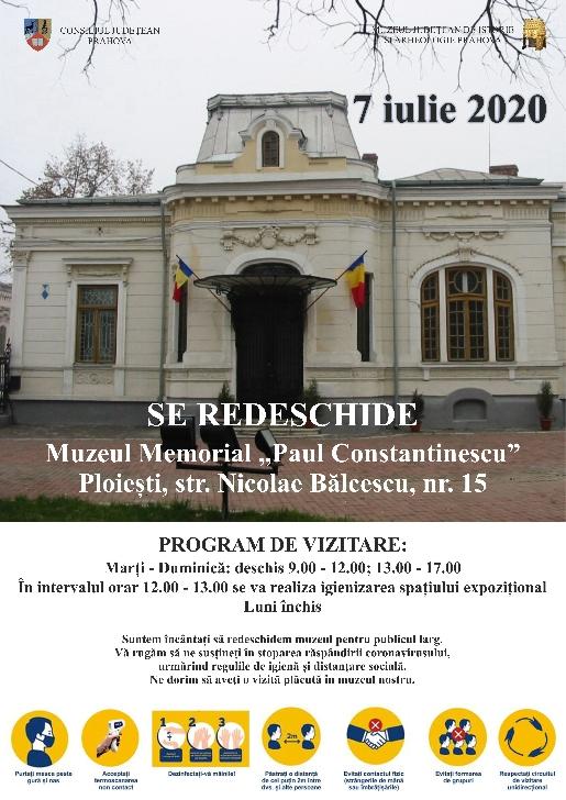 Marţi, 7 iulie a.c., se redeschid două muzee în Prahova