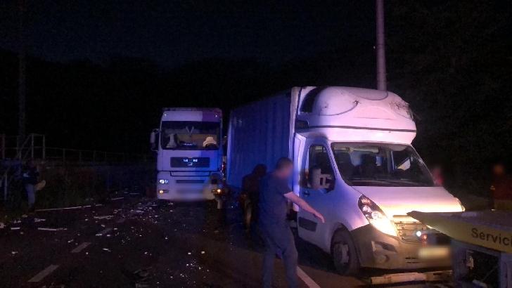 Accident în lanţ, miercuri seară, la Azuga