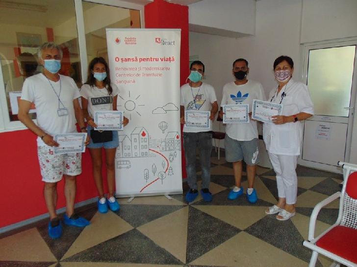 """130 persoane au donat sânge în campania"""" Sângele tău poate salva o viaţă"""""""
