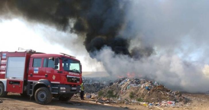 Incendiu gunoi menajer în localitatea Boldeşti Scaeni