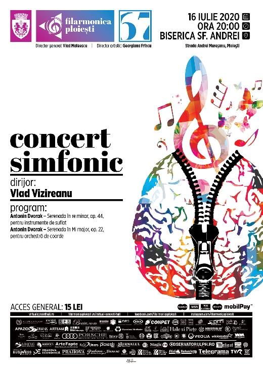 """Muzica lui Antonin Dvorak, în concertul de joi, 16 iulie 2020, al Filarmonicii """"Paul Constantinescu """" Ploieşti"""