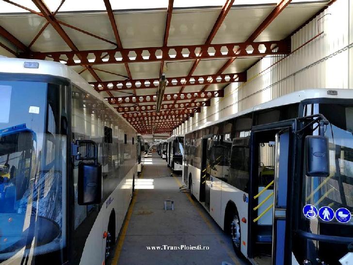 8 autobuze noi vor sosi miercuri la Ploiesti
