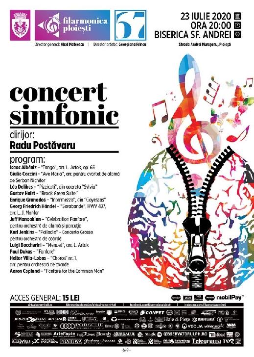 Stagiunea estivală a Filarmonicii ploieştene continuă cu un nou concert simfonic pe esplanada Bisericii Sf. Andrei