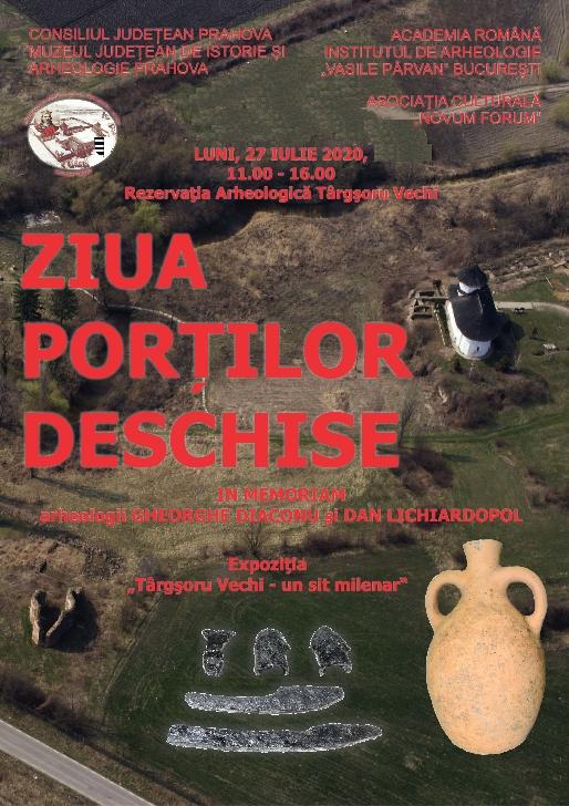 ZIUA PORŢILOR DESCHISE la Rezervaţia Arheologică Târgşoru Vechi – ediţia a IX-a