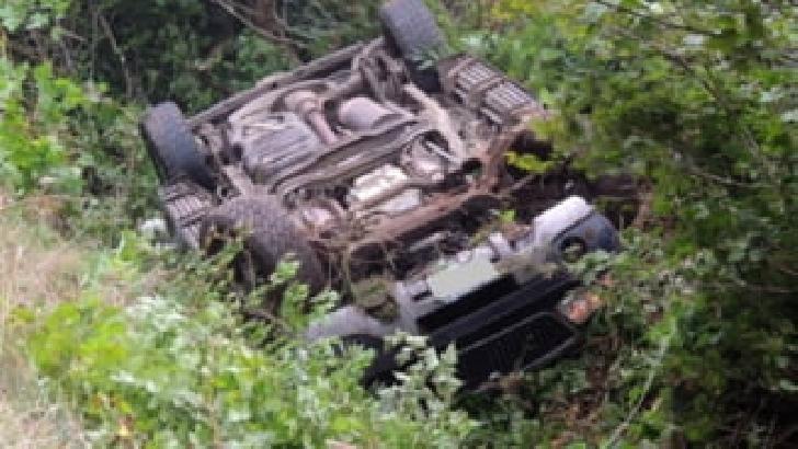 Un autoturism s-a răsturnat la Bărcăneşti