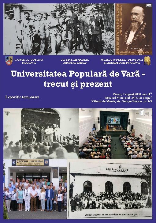Vernisaj expoziţie temporara Universitatea Populară de Vară – trecut şi prezent