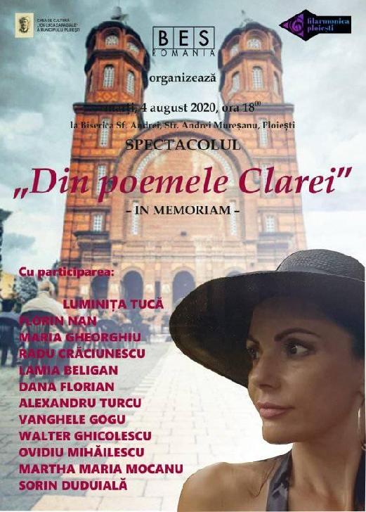 """Castigatorii Concursului naţional de recitări pentru actori amatori """"Poemele Clarei - In memoriam Clara Mărgineanu"""""""