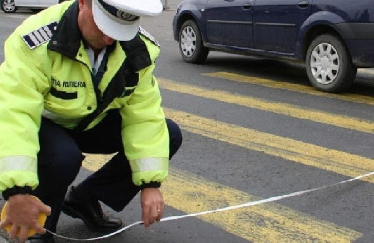 Accident rutier la Blejoi. Un bărbat a fost acroşat pe trecerea de pietoni