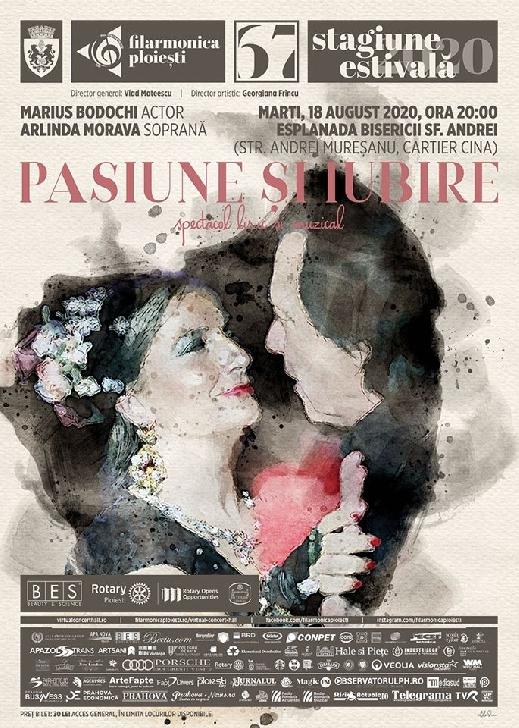 """Filarmonica """"Paul Constantinescu """" va invita la spectacolul liric şi muzical """" PASIUNE ŞI IUBIRE """""""