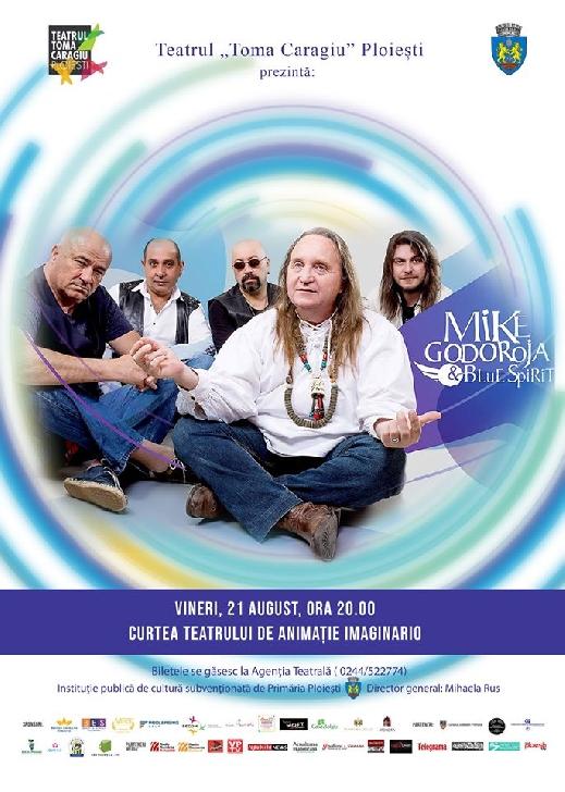 Mike Godoroja & Blue Spirit,concert in curtea Teatrului  Imaginario Ploiesti