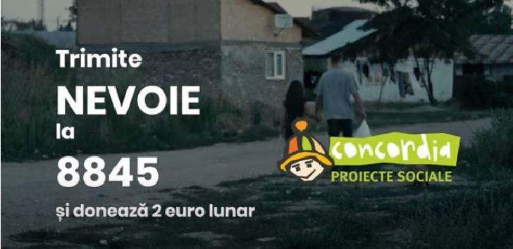 Sustine  campania de strângere de donaţii prin SMS pentru Organizatia Umanitara Concordia Romania