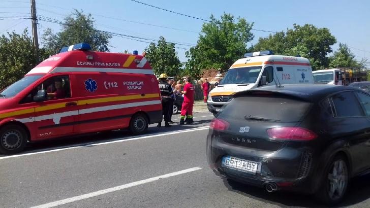 Accident rutier grav în Valea Călugărească