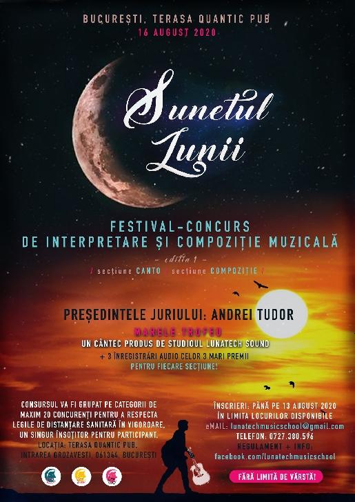 """Ploieşteanul Eduard Stoica, premiul 1 la concursul de interpretare live"""" Sunetul lunii"""" (foto si video)"""