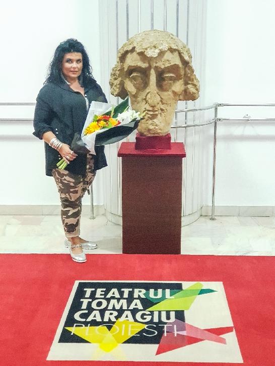 Reprezentantii Teatrului  ploiestean l-au omagiat pe Toma Caragiu