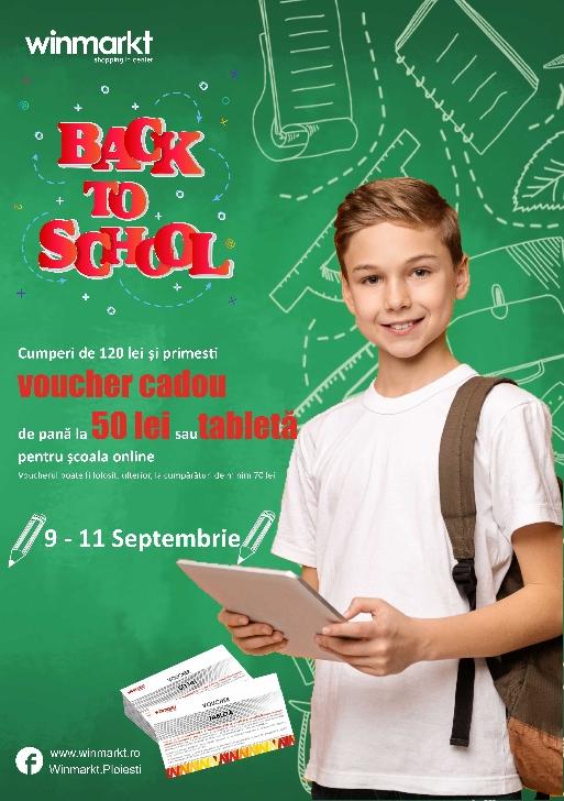Back to School – Winmarkt te premiaza cu vouchere cadou  si tablete pentru scoala online