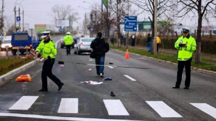 Accident rutier în localitatea Româneşti. O femeie a fost acroşată pe trecerea de pietoni