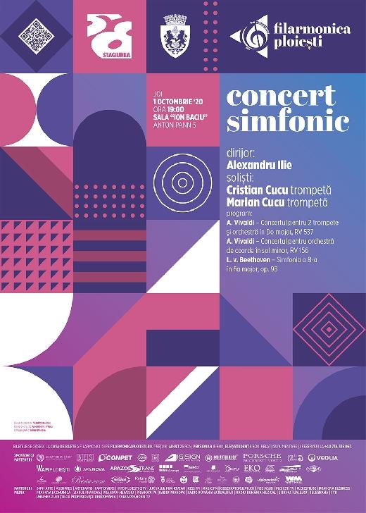 """Concert pentru două trompete şi orchestră RV 537, în Do major, la  Filarmonica """"Paul Constantinescu """" Ploiesti"""