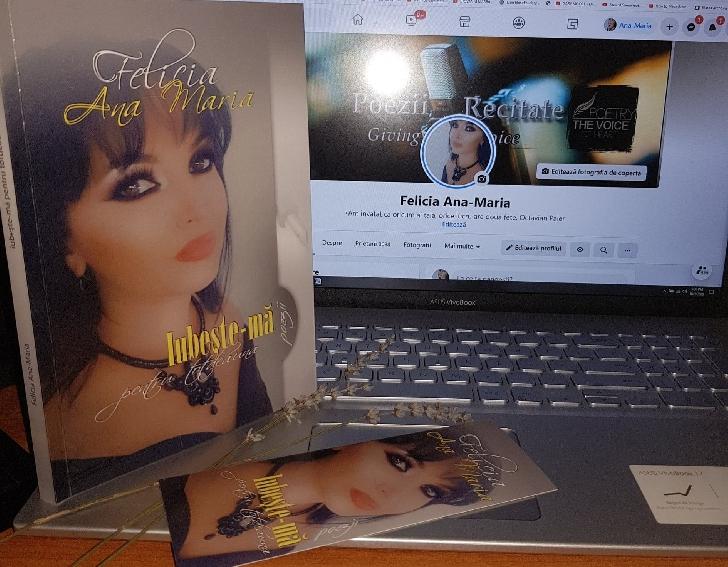 """EXCLUSIV ! Felicia Ana Maria şi-a lansat primul volum de poezii."""" Iubeşte-mă pentru totdeauna """""""