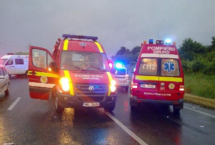 Accident rutier grav, la Movila Vulpii .10 persoane au ajuns la spital (video)
