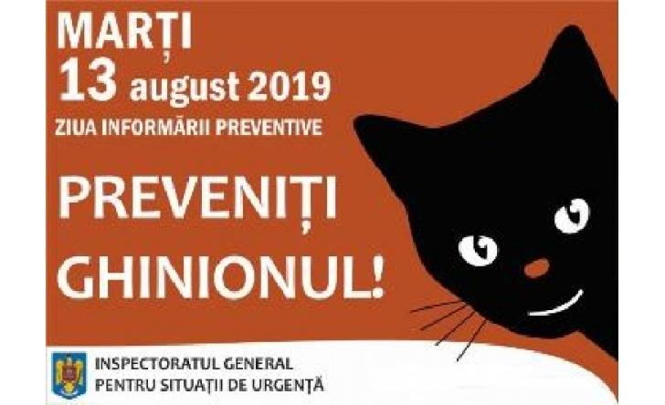 """ISU PRAHOVA . COMUNICAT DE PRESĂ .13 octombrie -""""Ziua Informării Preventive"""""""