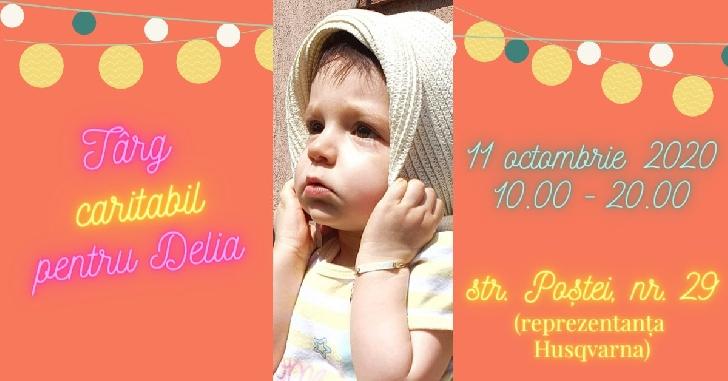 Târg caritabil pentru micuţa Delia la Motoutilaj (reprezentanţă Husqvarna) Ploieşti