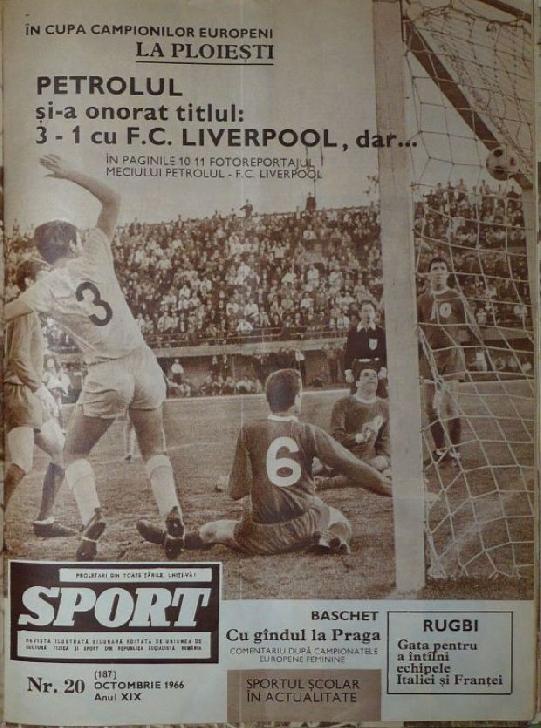 12 octombrie 2020.54 de ani de la victoria cu FC Liverpool . Petrolul Ploiesti-Liverpool 3-1