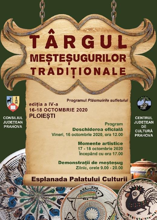 Târgul Meşteşugurilor Tradiţionale,editia a 6 a va avea loc în perioada 16 – 18 octombrie 2020