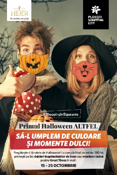 Primul Halloween Altfel, între 15 – 25 octombrie, la Ploieşti Shopping City