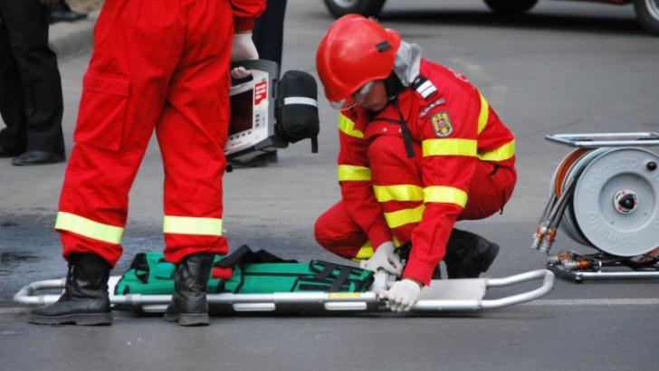 Accident rutier la Iordacheanu.Un pieton a fost lovit de un autoturism