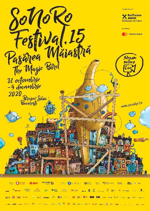 """Festivalul SoNoRo XV """"Pasărea Măiastră"""": 31 octombrie - 9 decembrie 2020"""